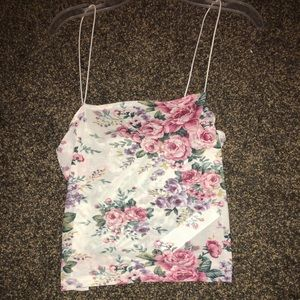 White floral mesh tank from Forever 21